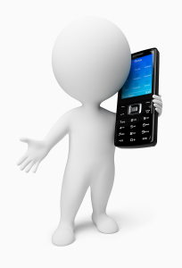 3D Small People - Mobile Phone